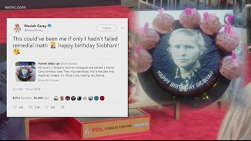 This woman wanted Mariah Carey on her birthday cake. She got Marie Curie instead