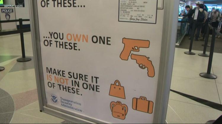 Gun seized at Charlotte airport