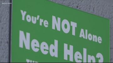 Signs posted around Charlotte to fight rising suicide rates