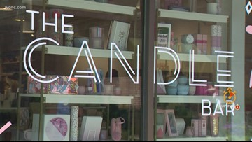 Inside The Candle Bar, Charlotte's first build-your-own candle workshop and gift shop