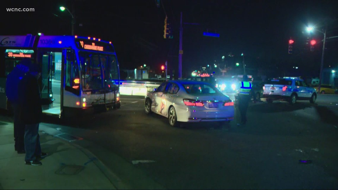 CMPD: No injuries after CATS bus hits pole