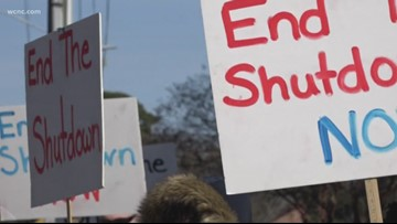 Activists, federal employees protest government shutdown in Salisbury