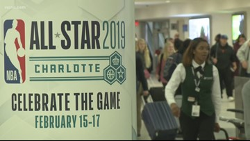 Fans from around the world fly into Charlotte for All-Star Weekend