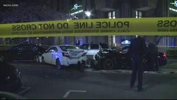 Stabbing victim taken to hospital after crash in north Charlotte, police say