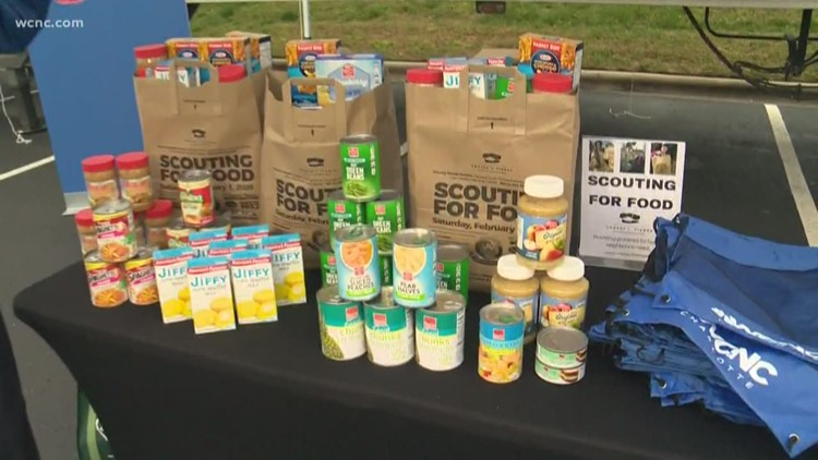 WCNC Charlotte partners with area Boy Scouts for Scouting For Food
