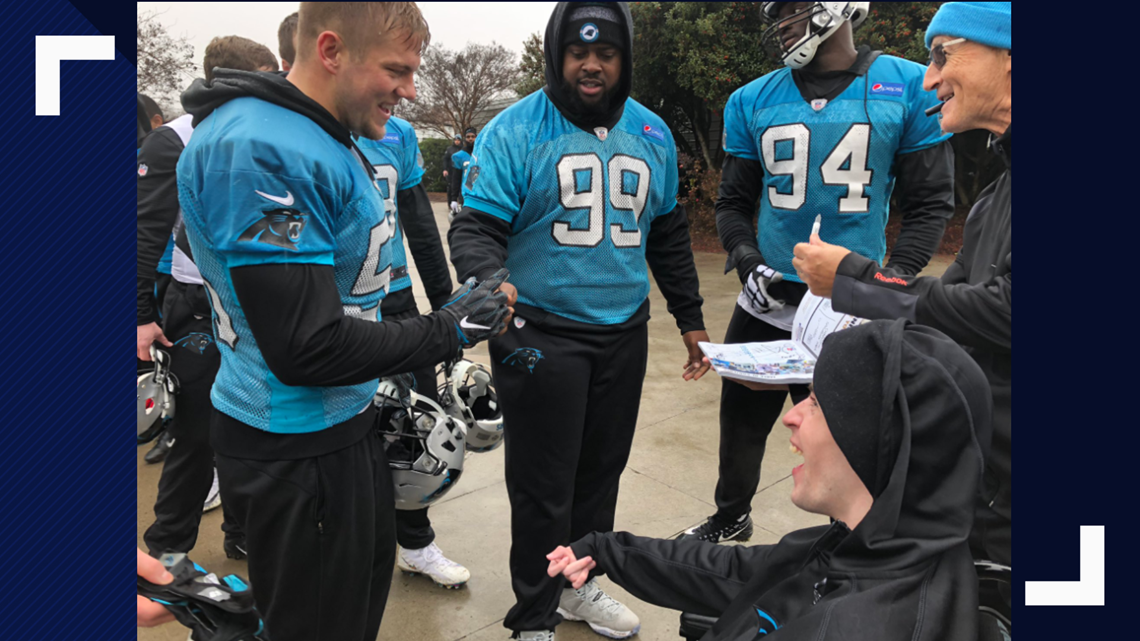 Carolina Panthers and Charlotte Hornets fan gets to meet both teams