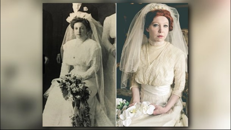 Bride recreates four generations of wedding photo shoots using ...