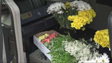 Flower shop bringing joy to nursing home residents gifting flowers