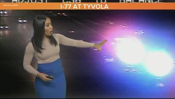Crashes shut down lanes of I-77