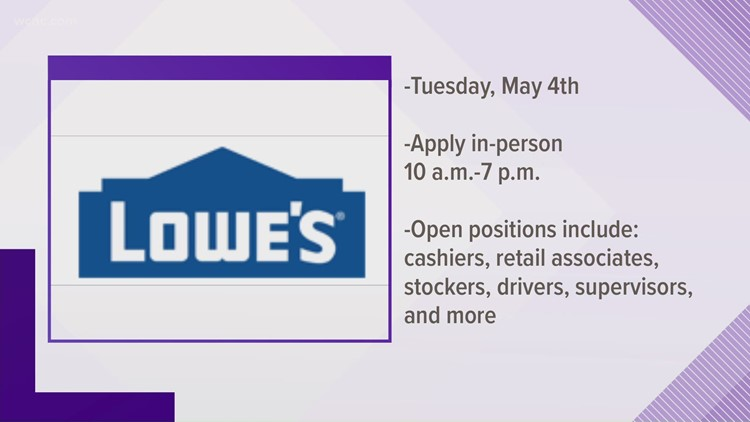 Lowe's looking to hire 1,100 associates across Charlotte stores