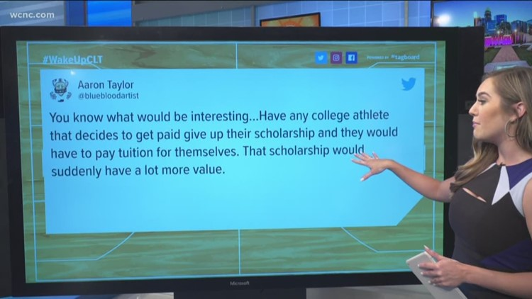 Should college athletes be allowed to make money off their name?