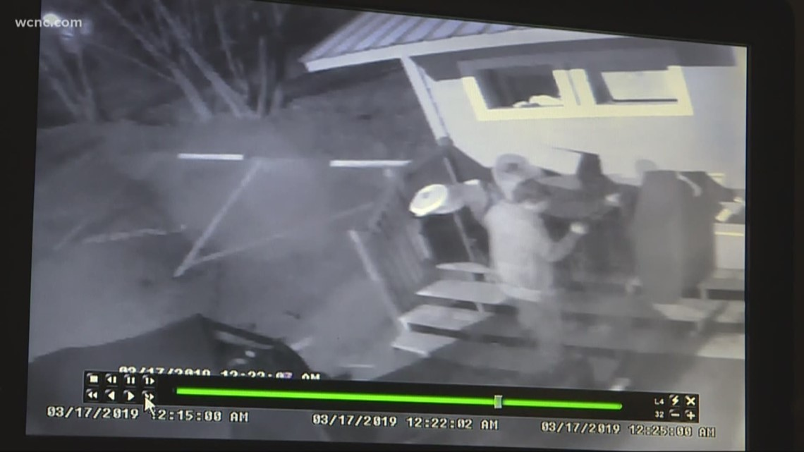 Thieves caught on cam stealing from charity
