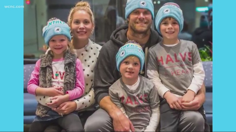 Greg Olsen's son TJ rings the bell after getting a new heart