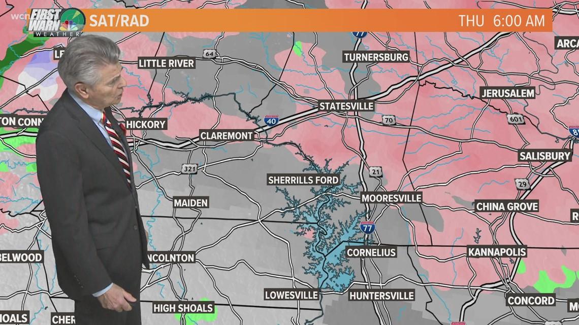 Winter Storm moves into the Carolinas with freezing rain