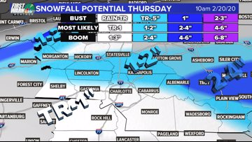 10:30 a.m. winter weather update: Snow expected in Charlotte