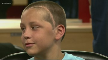 Make-A-Wish kid ready for tropical vacation after getting buzz cut