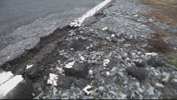 Rain, storms damage roads in the mountains