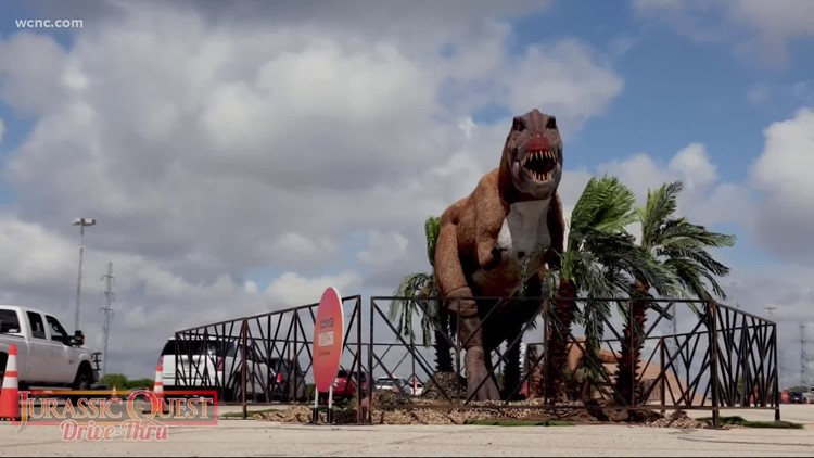 Jurassic Quest drive-thru coming to Charlotte Motor Speedway this weekend