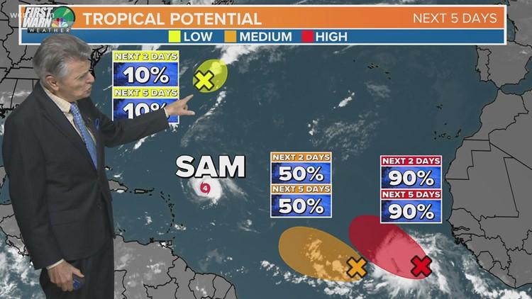 Hurricane Sam update: No threat to Carolinas, US coast