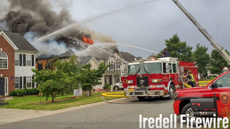 Firefighter injured while fighting 2-alarm house fire in Mooresville