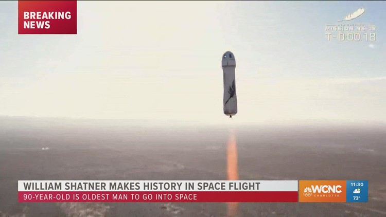 William Shatner blasts into space on historic voyage