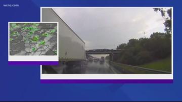 Chevy Storm Tracker: Heavy rain hits I-77