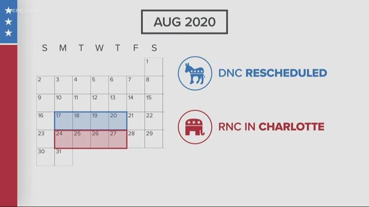 Democratic National Convention rescheduled