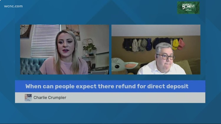 When can people expect refund for direct deposit?