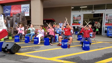 School of Rock: Music students drum up support outside Lowe's in Fort Mill