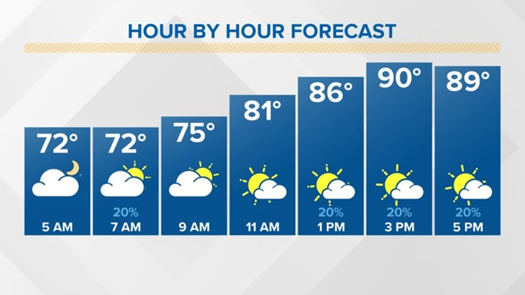 FORECAST: Hot & humid with a storm chance