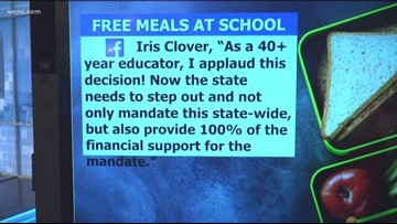 North Carolina school district offering free meals to all students
