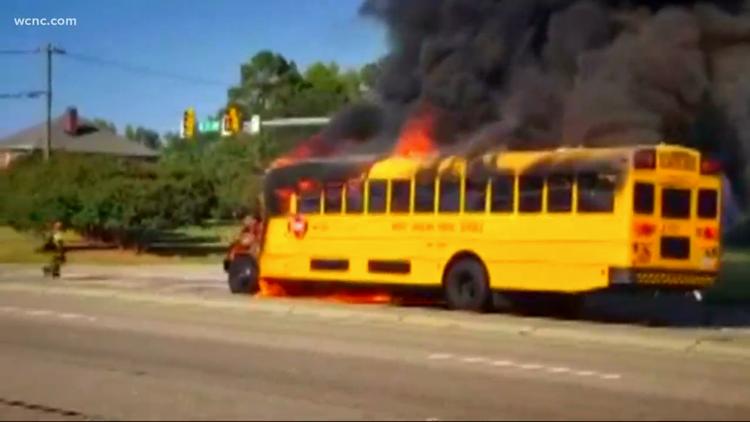 School bus fire raises new safety concerns