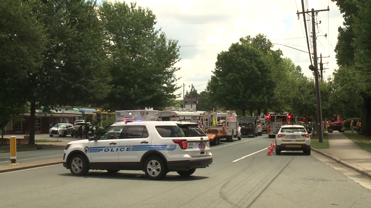 Section of Central Avenue in Charlotte reopened after gas leak forced shutdown