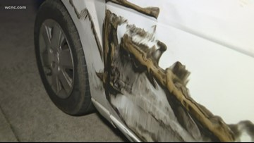 Young driver sideswiped by semi on I-77