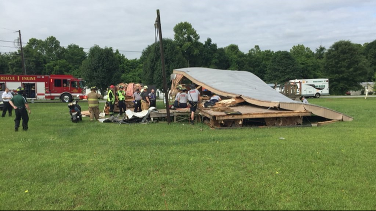 Officials report the mobile home is being disassembled.
