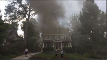 Lightning strike sparks fire at Dilworth home