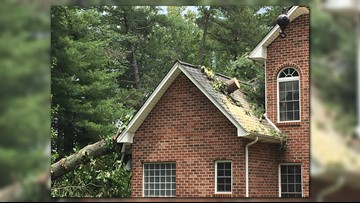 Storm cleanups underway in NC foothills