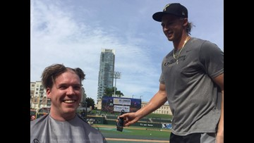 Knights staffer donates hair to charity