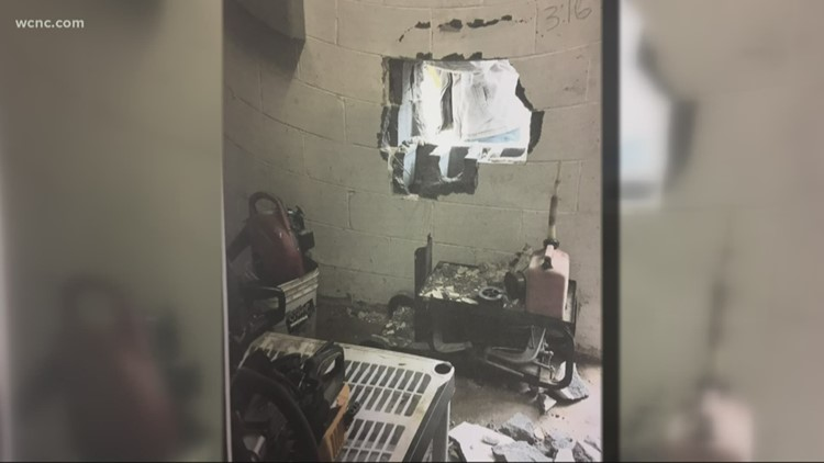 Burglar knocks hole in concrete wall during break-in at Rock Hill pawn shop