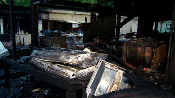 6 businesses destroyed after fire breaks out at flea market in Burke County