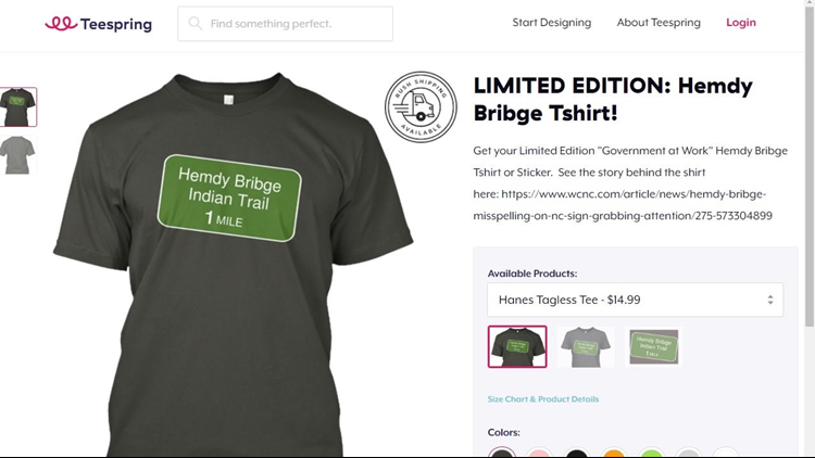 Hemdy Bribge T Shirts Being Sold Online Wcnc
