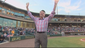 Larry Sprinkle honored by the Charlotte Knights after car accident