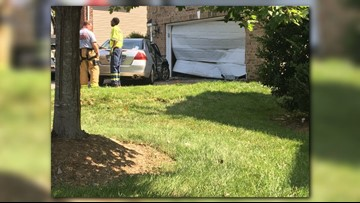 One injured after car crashes into Ballantyne home