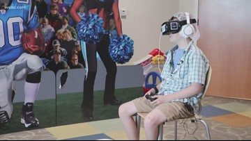 VR headsets at Levine Children's Hospital transport patients to another world during scary procedures