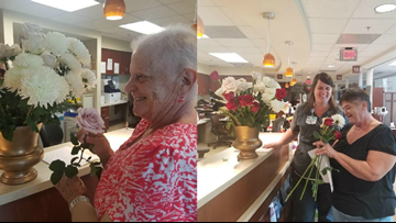Couple donates floral arrangements to cancer patients after Florence reschedules wedding
