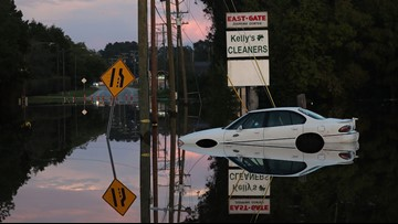Night vision goggles used to rescue 100 people from flooded NC town