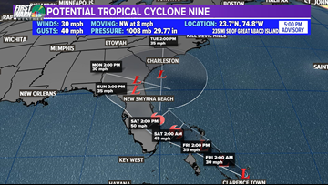 Another tropical system sets sights on Bahamas, and Southeast