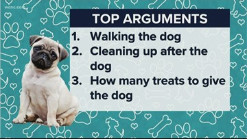 The reasons couples argue over their dogs