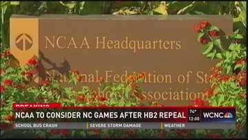 NCAA to consider NC games after HB2 repeal