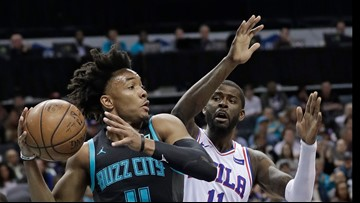 Redick just misses triple-double, 76ers beat Hornets 118-114